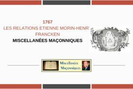 LES RELATIONS ETIENNE MORIN-HENRY FRANCKEN
