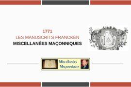 LES MANUSCRITS FRANCKEN