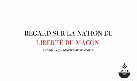 REGARD SUR LA NATION DE LIBERTÉ DU MAÇON – PLANCHE