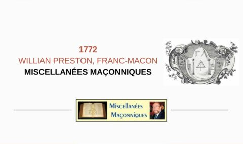 WILLIAN PRESTON, FRANC-MACON