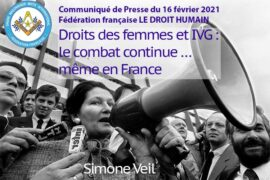 COMMUNIQUÉ DROIT HUMAIN – DROITS DES FEMMES ET IVG