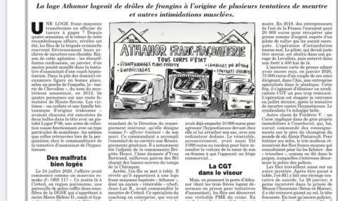 """LOGE """"ATHANOR"""" : PME DU CRIME – LE CANARD ENCHAÎNÉ"""