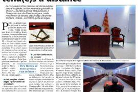 "COVID-19 : ""UN RITUEL SANS CONTACT"" POUR LES FRANCS-MAÇONS"