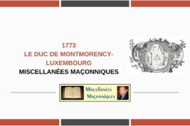 LE DUC DE MONTMORENCY-LUXEMBOURG