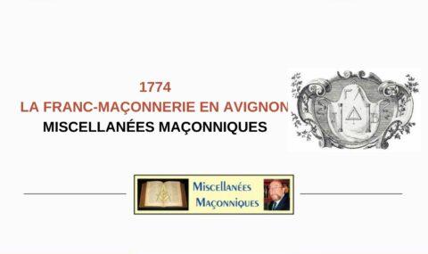 LA FRANC-MAÇONNERIE EN AVIGNON