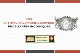 LA FRANC-MACONNERIE D'ADOPTION