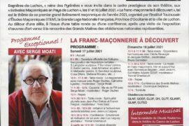 LE PROGRAMME DES ESTIVALES MACONNIQUES EN PAYS DE LUCHON