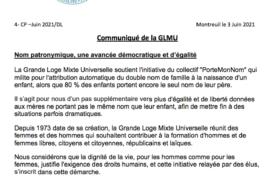 """""""NOM PATRONYMIQUE"""" – PLUS D'EGALITÉ POUR LA GLMU"""