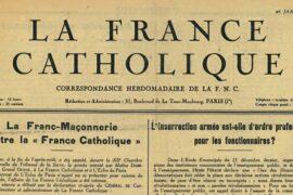 FRANCE CATHOLIQUE CONTRE LA FRANC-MACONNERIE