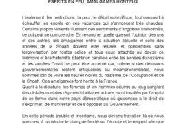 COMMUNIQUE – ESPRITS EN FEU, AMALGAMES HONTEUX – FM&S