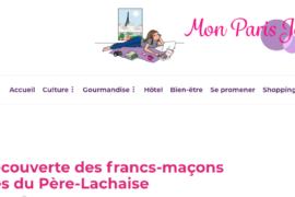 LES FRANCS-MAÇONS ILLUSTRES DU PERE LACHAISE DANS LE BLOG MON PARIS JOLI
