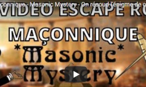 ESCAPE ROOM MACONNIQUE – MASONIC MYSTERY