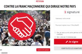 2 PETITIONS EN LIGNE CONTRE LA FRANC-MACONNERIE