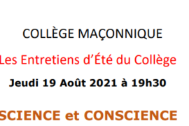 COLLÈGE MAÇONNIQUE – SCIENCE ET CONSCIENCE