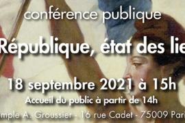 LA REPUBLIQUE, ETAT DES LIEUX – 229° ANNIVERSAIRE DE LA REPUBLIQUE