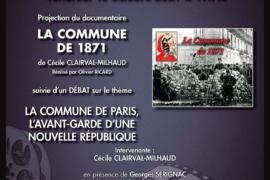 DOCUMENTAIRE : LA COMMUNE DE 1871 – CINÉ DÉBAT GODF