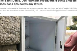DES  COUPURES DE JOURNAUX AVEC DES MENTIONS ANT-MACONNIQUES ET ANTISEMITES