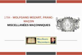 WOLFGANG MOZART, FRANC-MAÇON
